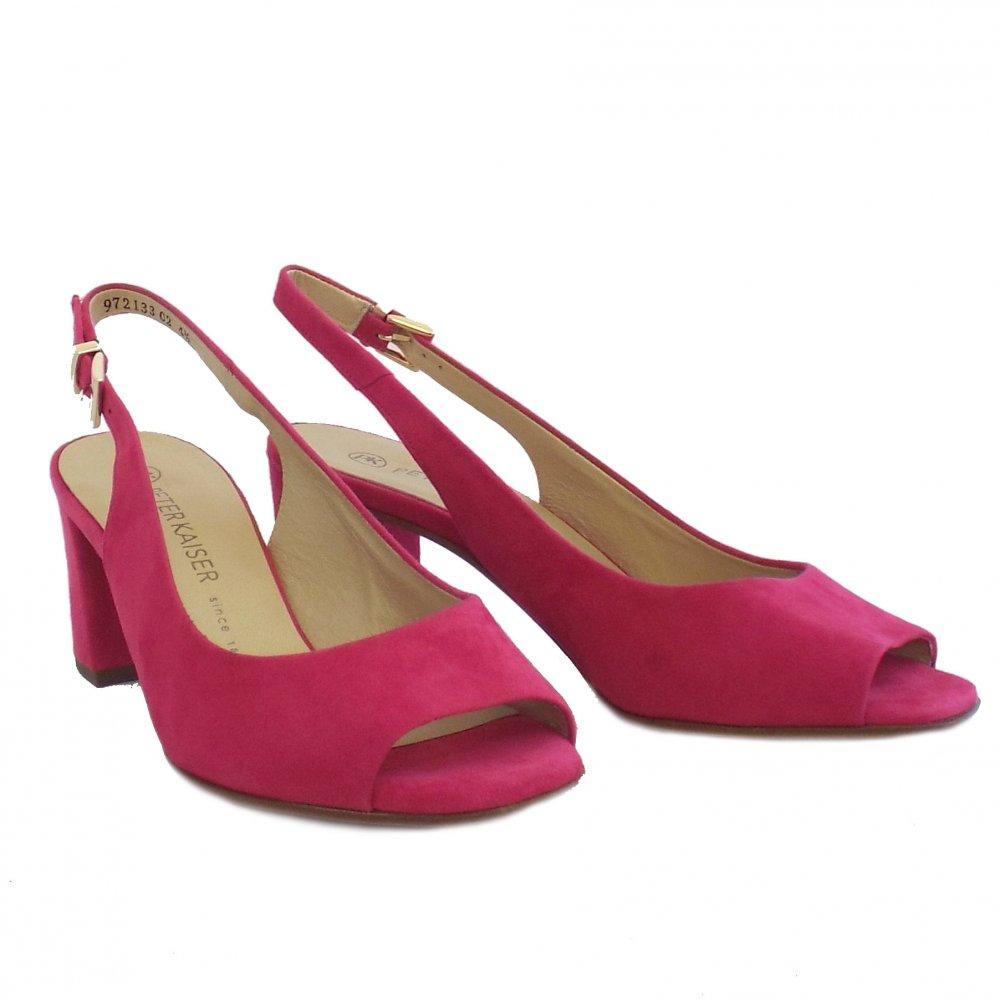 kaiser kasey open toe slingback heels mozimo