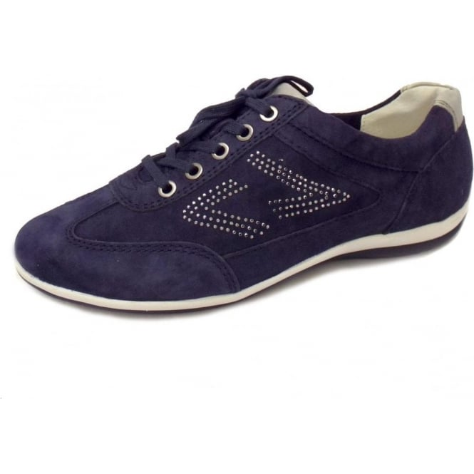aa76c67bfc2 Gabor Kayden Ladies Lace Up Trainer in Navy