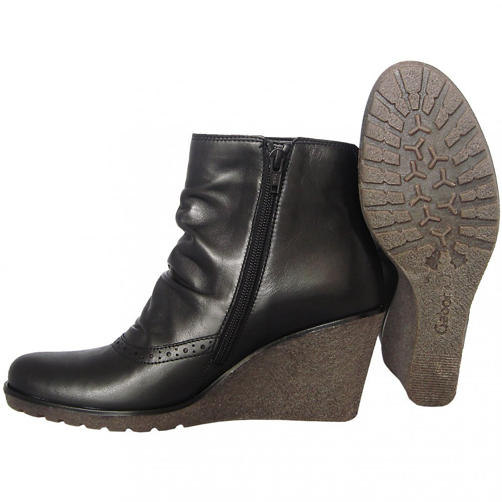gabor boots wedge boot in black mozimo