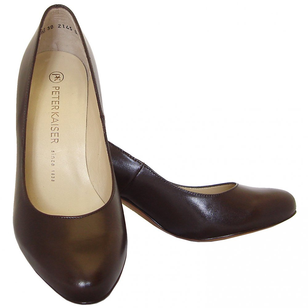 Dark Brown Leather Court Shoes