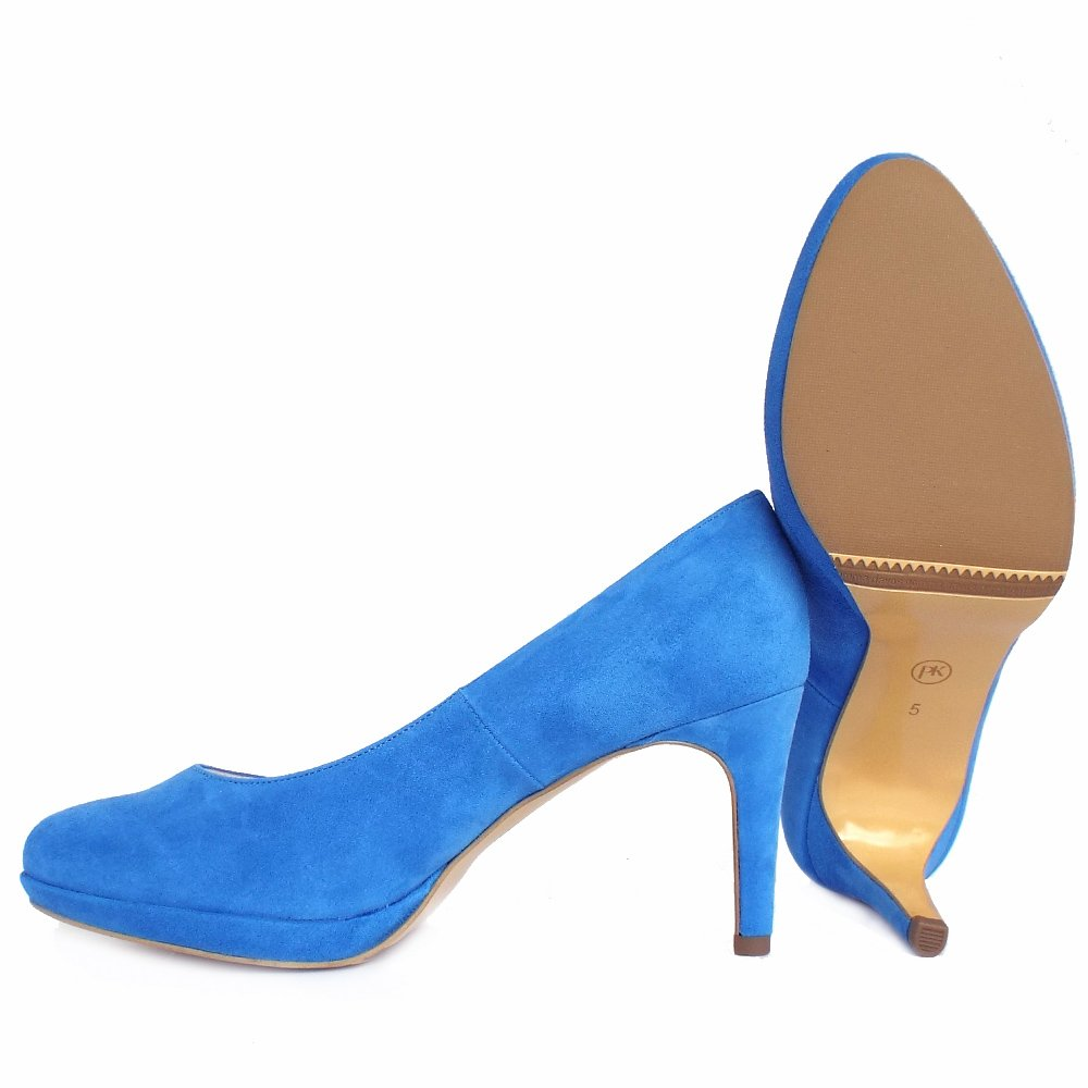 Electric Blue Mid Heel Shoes