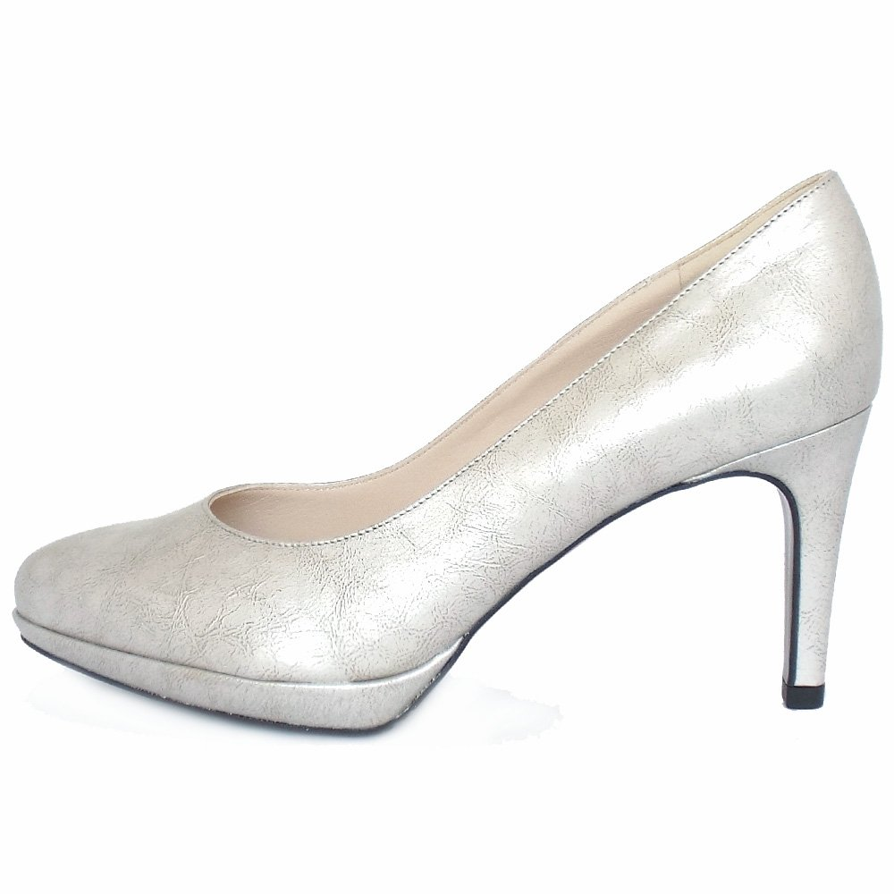 Mid Heel Silver Shoes