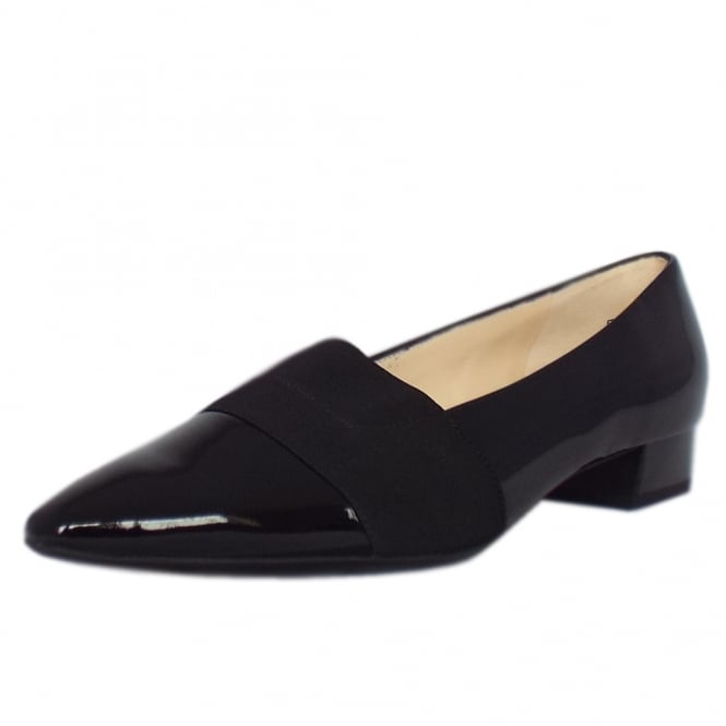 Peter Kaiser Lagos Pointed Toe Ballet Pumps in Black Patent