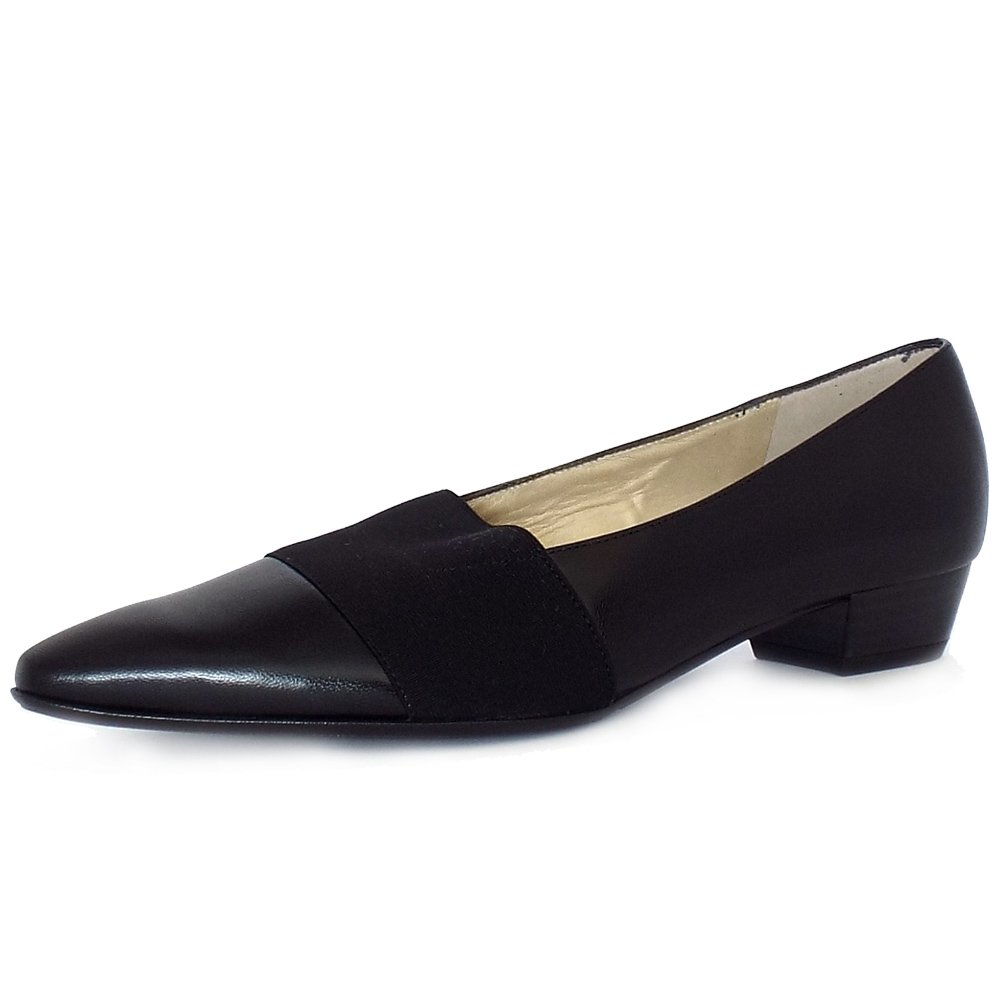 Peter Kaiser Lagos | Pointed Toe Low Heel Shoes In Black | Mozimo