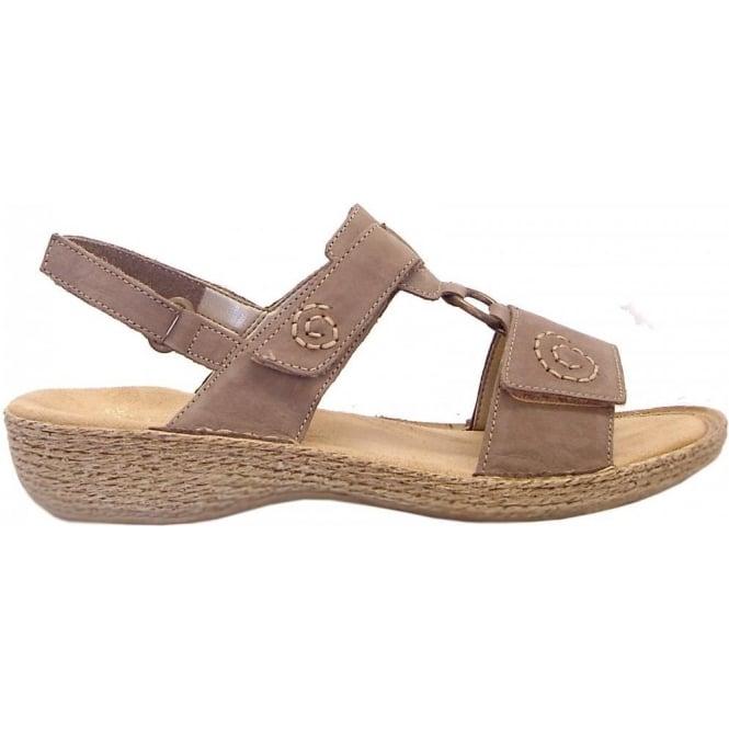 99e91ebdff6 Lahore Regina velcro T-bar sandals in taupe