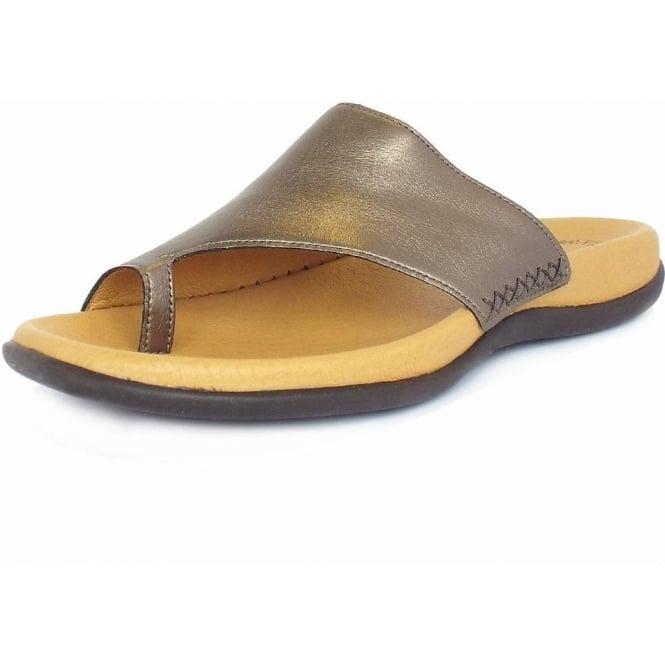Gabor Lanzarote Ladies Sandal in Antique Silver Leather