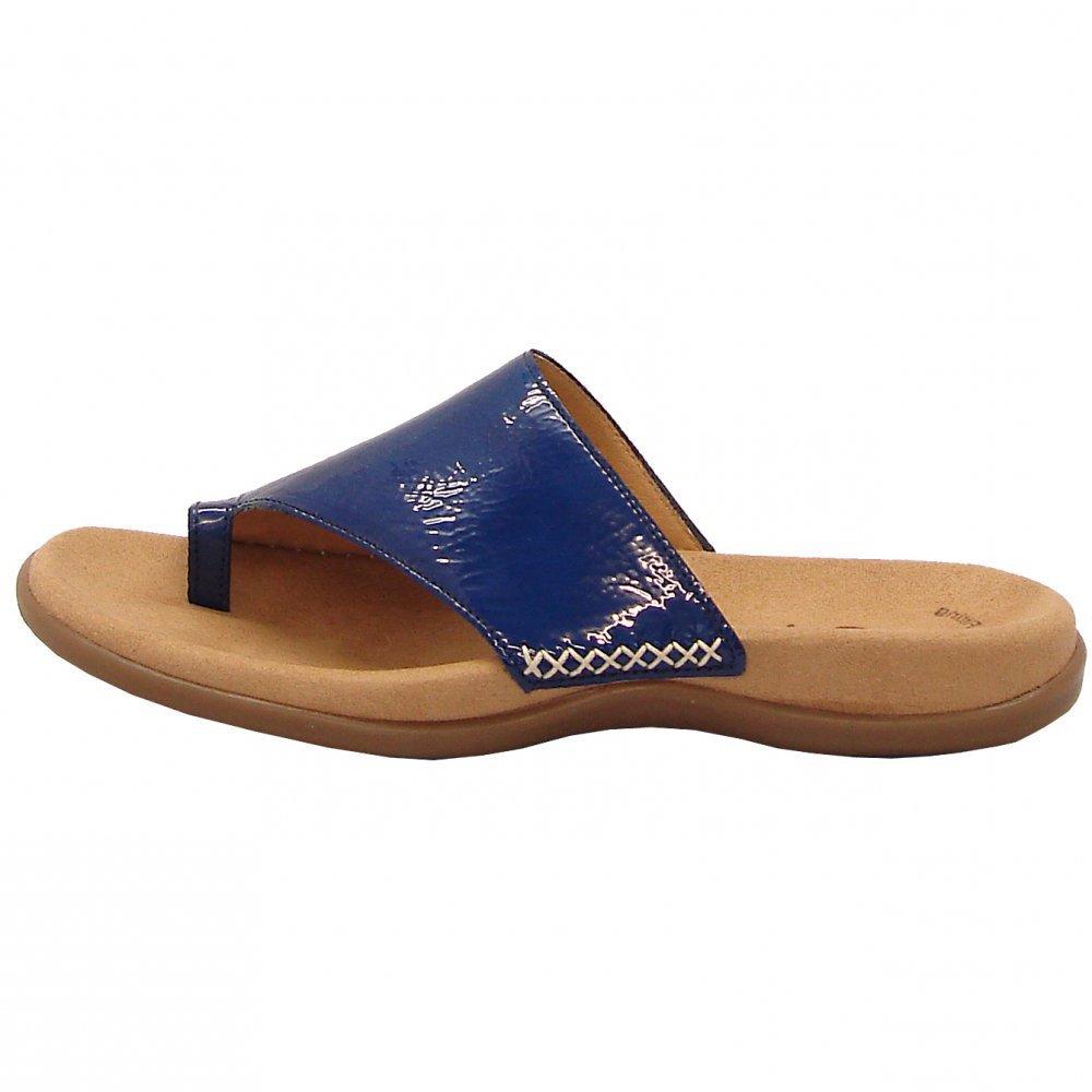 Gabor Sandals Lanzarote Ladies Toe Loop Mule In Blue