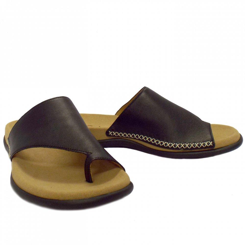 Gabor Sandals Lanzarote Ladies Leather Sandals In Black