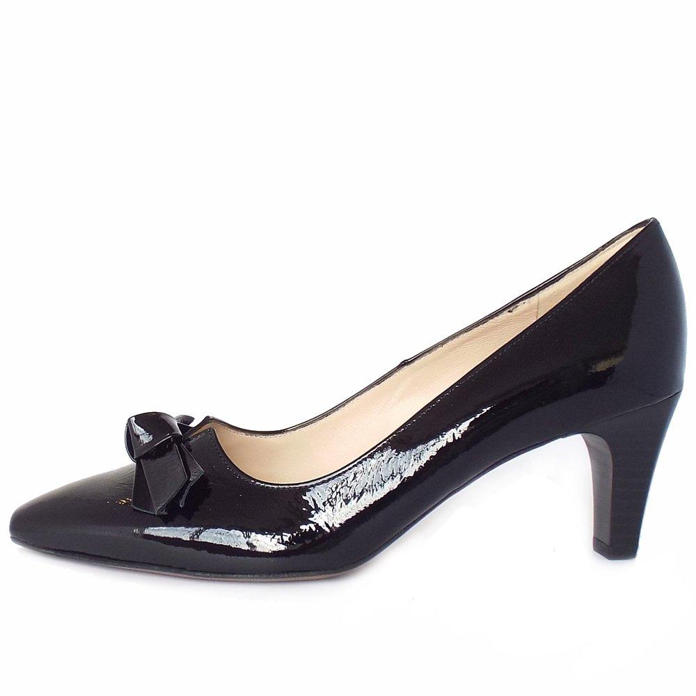 Mid Heel Black Shoes