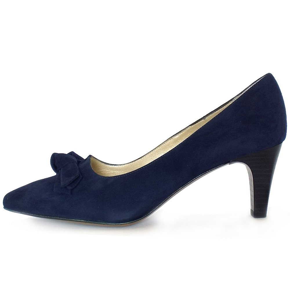 Womens Leather Navy Blue Shoes