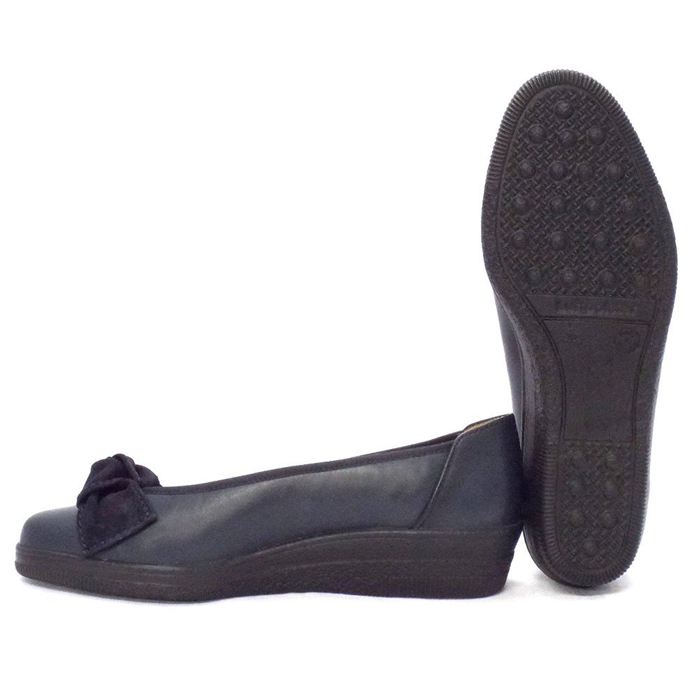 gabor shoes lesley womens wedge shoe in navy blue