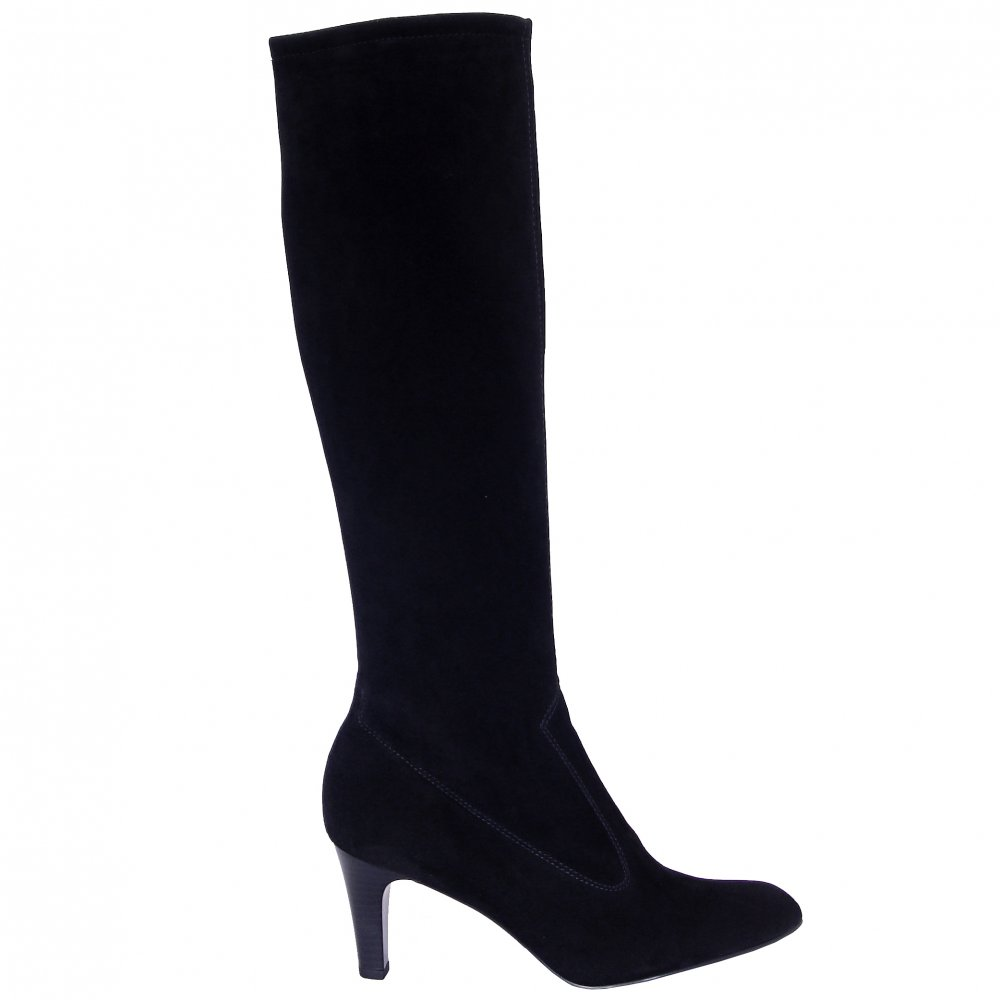 kaiser levke pull on stretch boots in black suede