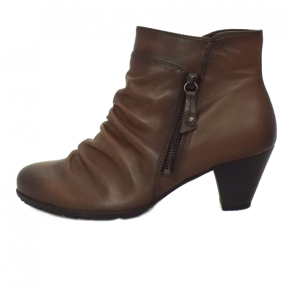 gabor boots lexy brown grey leather slouch ankle boots