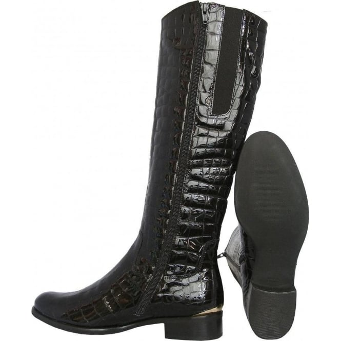 15cb80e2c4c Gabor Boots | Library Womens Knee High Boot in Black | Mozimo