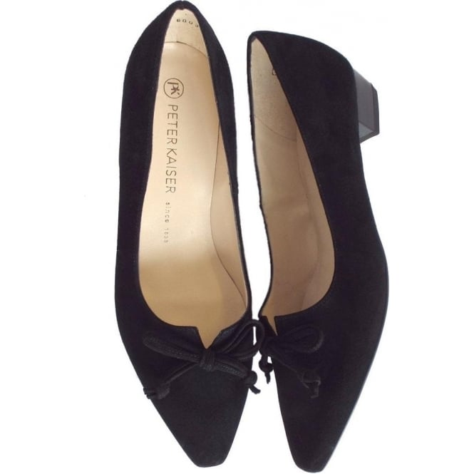 23566f77b Peter Kaiser Lizzy | Pointed Toe Low Heel Shoes In Black Suede