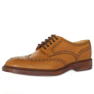 Loake Chester Classic Men's Brogue Shoes in Tan