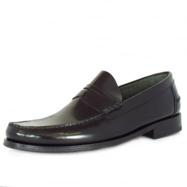 Princeton Polished saddle loafer in black