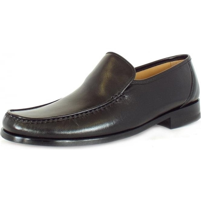 Loake Siena loafer moccasin in black leather