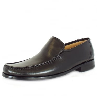 Siena loafer moccasin in black leather