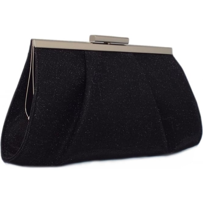 Peter Kaiser Lomasi | Women's Small Evening Clutch Bag Black Shimmer