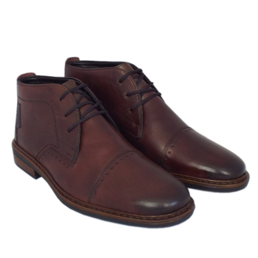 Brown Leather Lace Up Womens Shoes