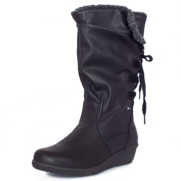 Lotus Colorado River Relife Women's Comfortable Casual Long Boots in Black
