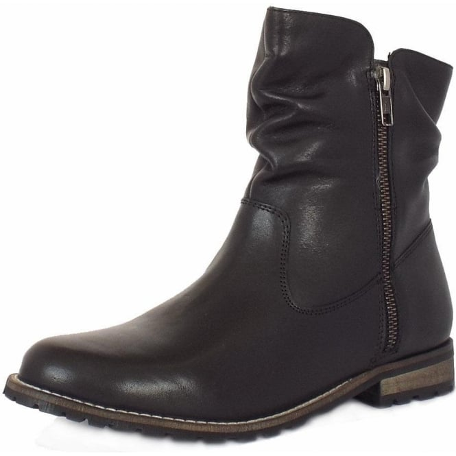 Lotus Lorie Women's Short Boots in Black Leather