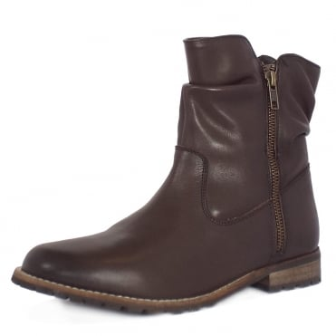Lotus Lorie Women's Short Boots in Brown Leather