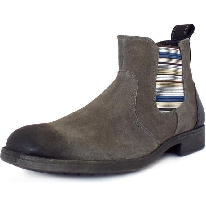 Lotus Oakworth Modern Men's Chelsea Boots In Grey Suede