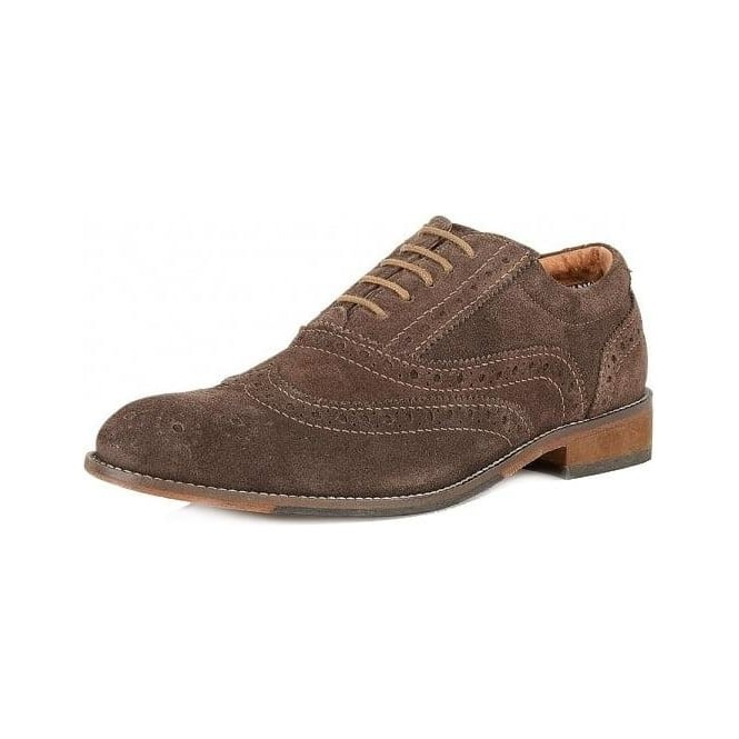Lotus Tamworth Mens Brogues in Chocolate Suede