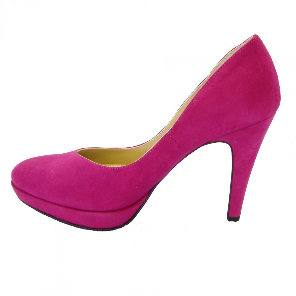 kaiser lukrezia womens pink suede high heel shoes