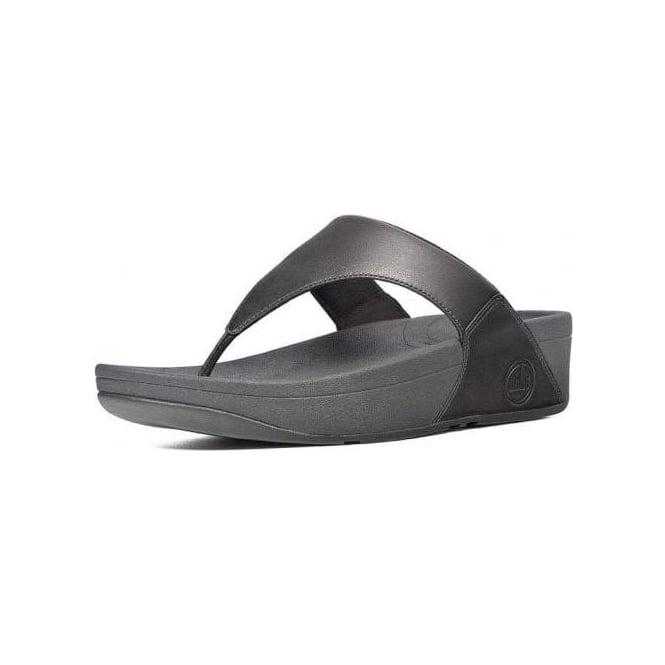 3f6a89700 Lulu™ Leather Toe Thong Sandal in Black