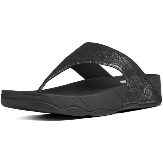 687fbe6d3c82 Lulu™ Shimmersuede Toe Post Sandal in Black