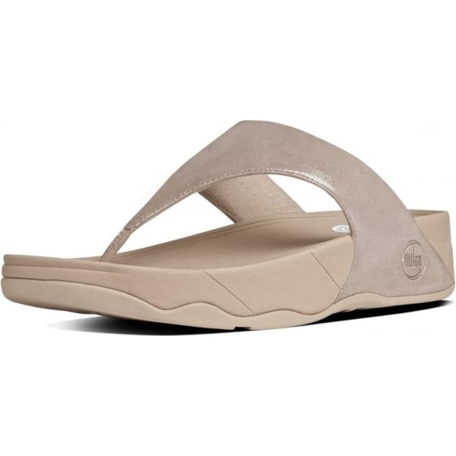 Lulu™ Shimmersuede Toe Post Sandal in Nude