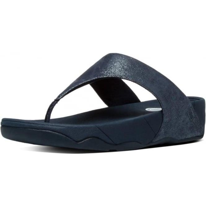 6af987529faa Lulu™ Shimmersuede Toe Post Sandal in Supernavy