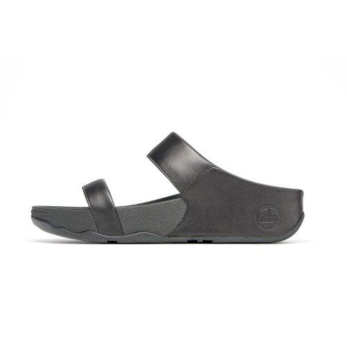 a036aea76 Lulu Slide no toe-post sandals in soft black leather
