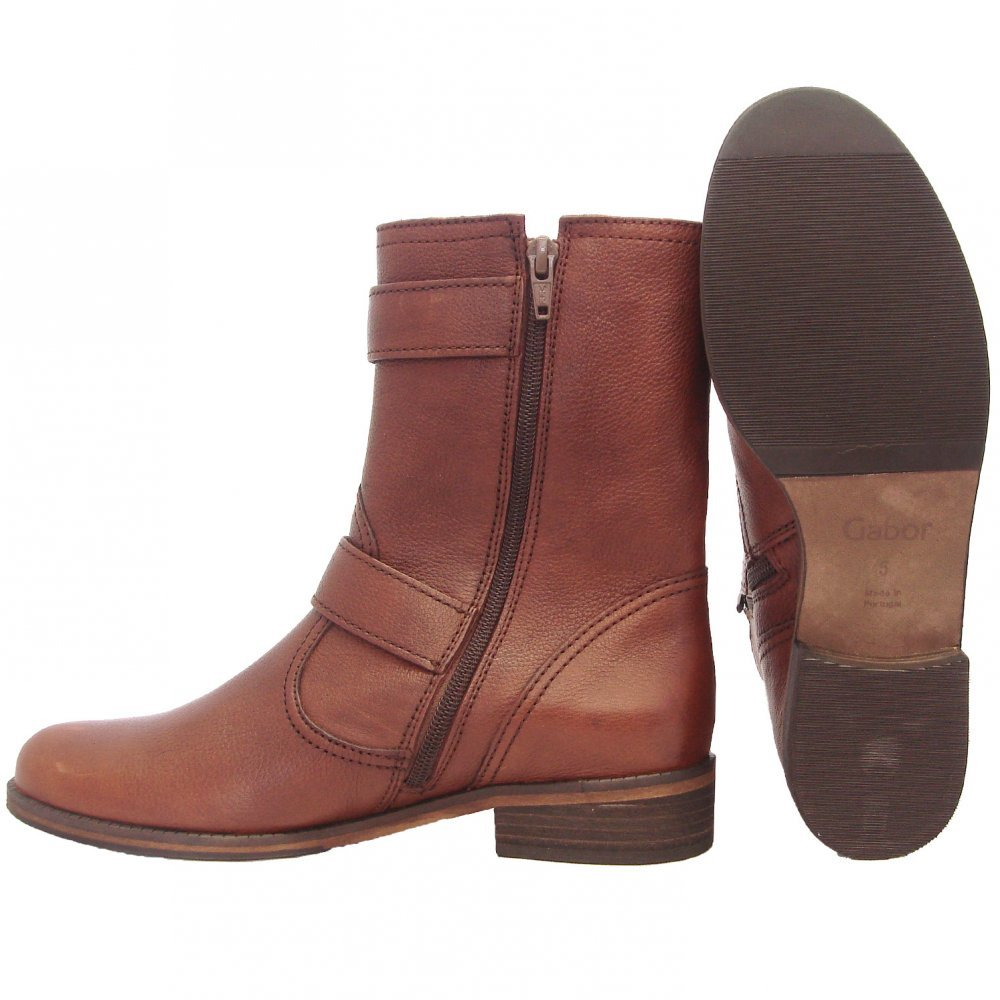gabor boots womens mid calf boots in brown mozimo
