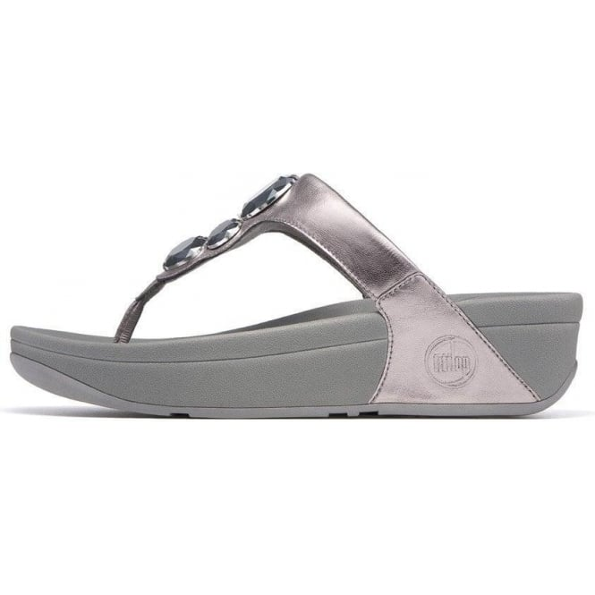 9421c7e9fa302a Fitflop - Lunetta Midsole Dandle with Dazzling Jewels in Pewter from ...