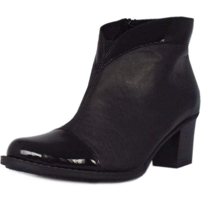 c2dc9da7a88c7 Rieker Luxor | Women's Fashion Shoe Boots in Black Leather | Mozimo
