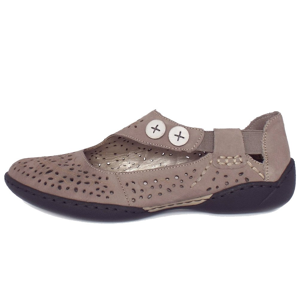 rieker maddox 58867 42 s comfortable flat shoes