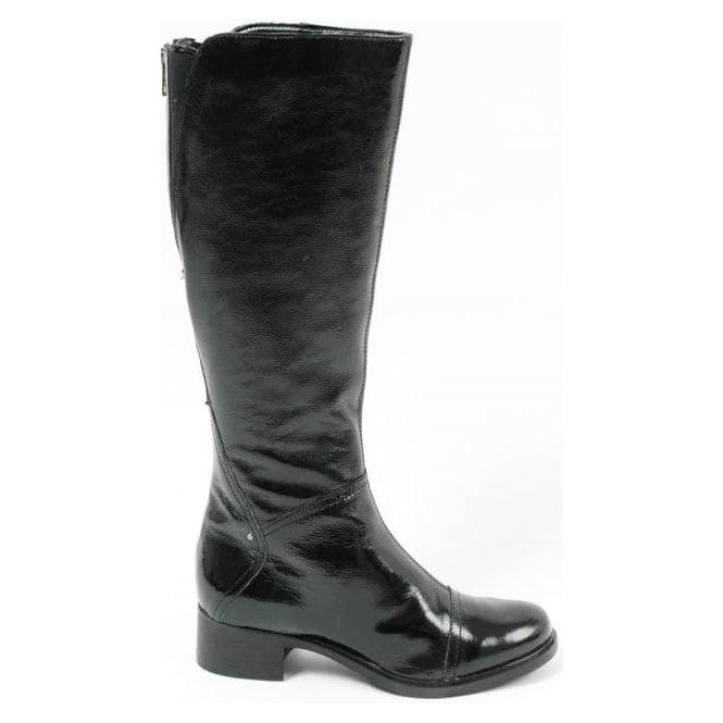 Cara London fashion black patent boots