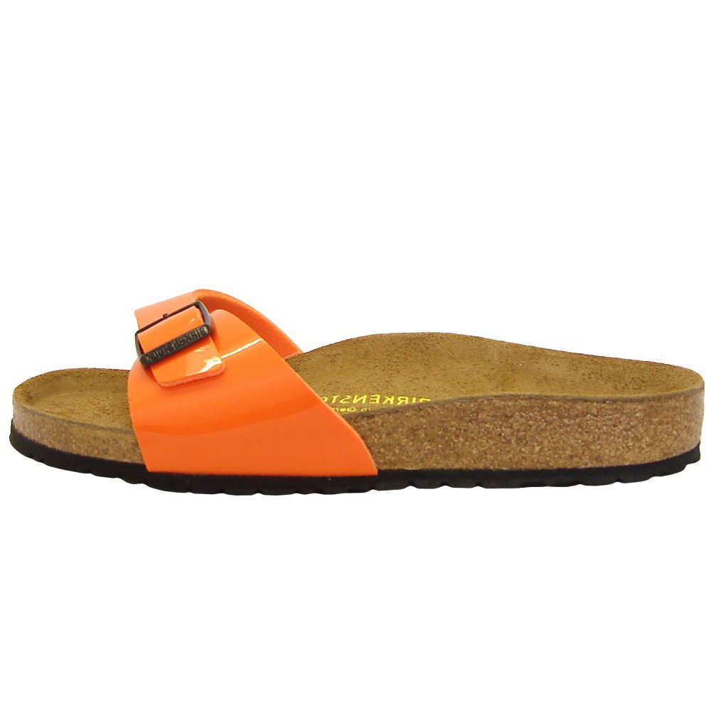 fc0ae93f2a04 Birkenstock Madrid fitness sandal in orange patent