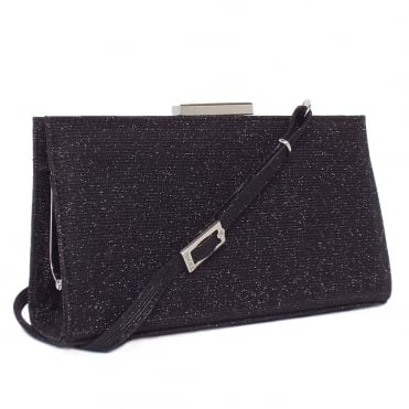 Magalie Evening Bag in Black Shimmer