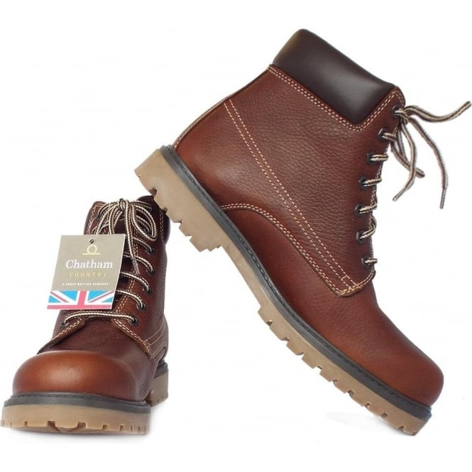 730e99dfb48 Chatham Marine Maguire Men's Walking Boots in Rich Red Brown Leather