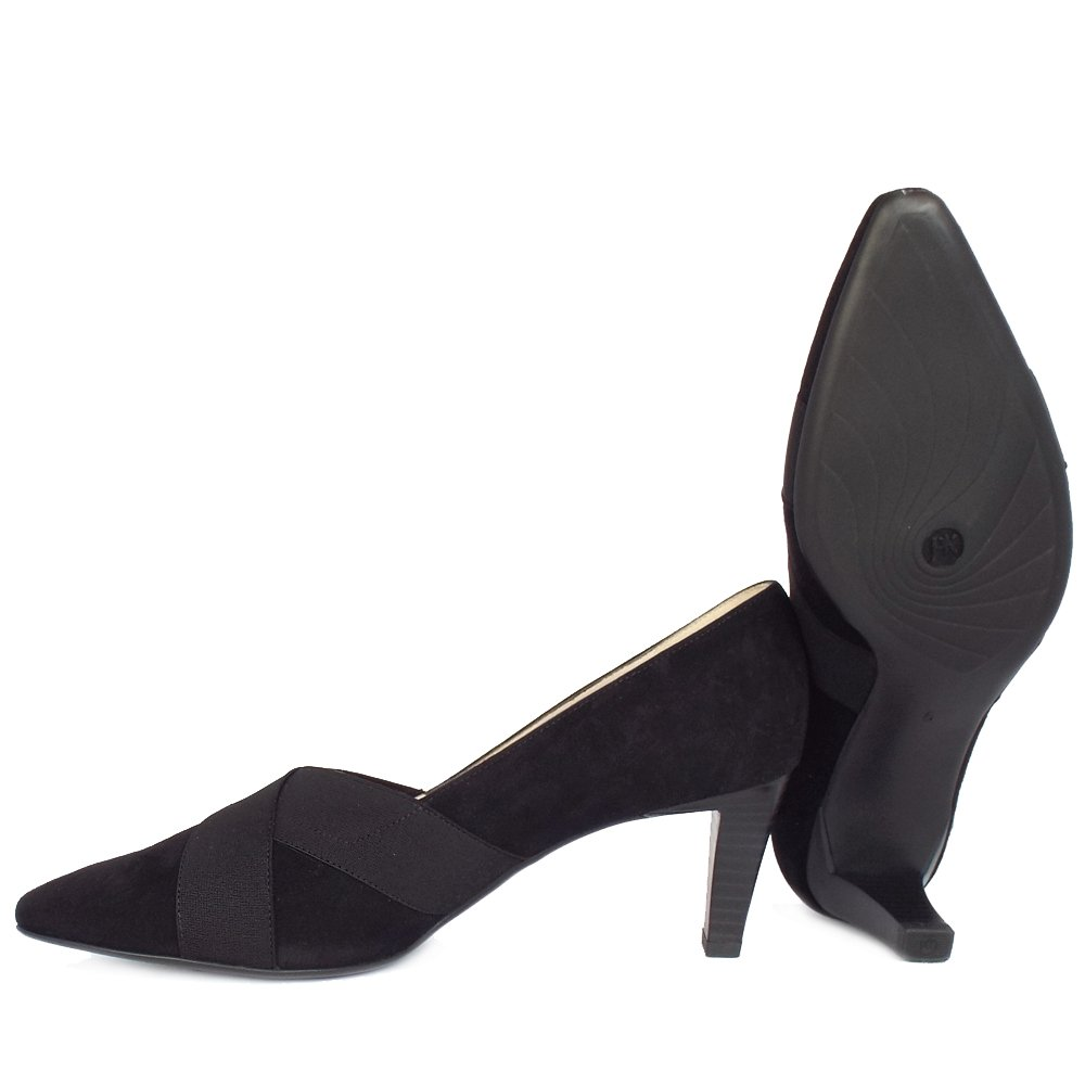 kaiser malana s mid heel court shoes in