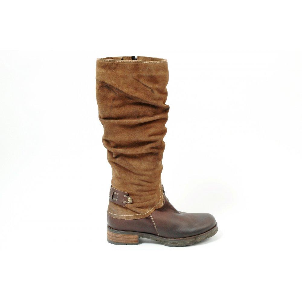 Manas Design Italian Leather Ladies Riding Style Boots