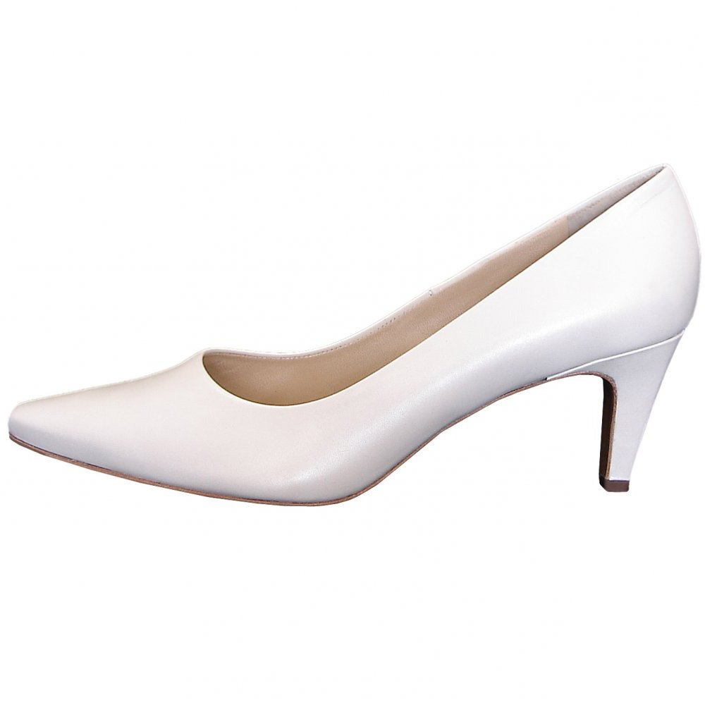 Peter Kaiser Manolo Classic Bridal Shoes White Leather Court Shoes