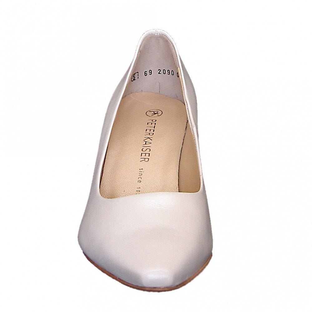 kaiser manolo classic bridal shoes white leather