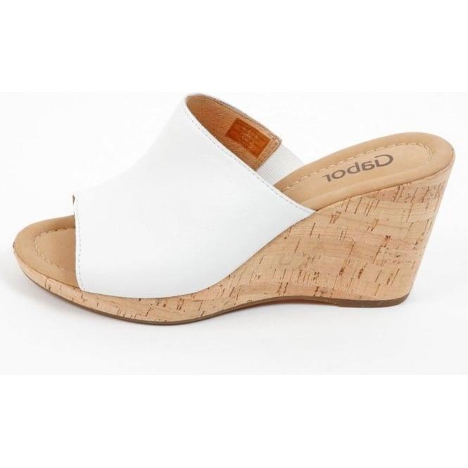 e6394c0e12 Gabor Shoes | Maple Womens Wedge Sandal in White| Mozimo