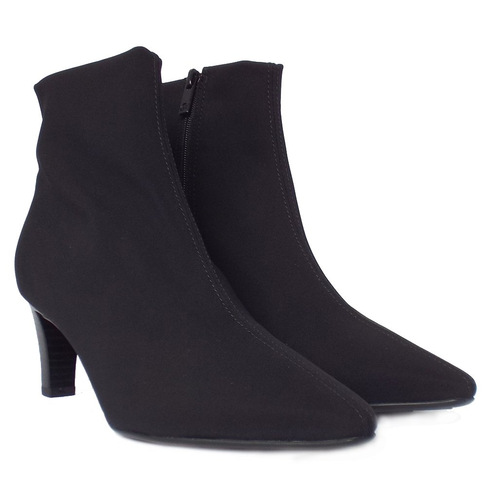 kaiser mariona black stretchy ankle boots premium